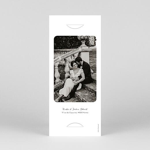Carte de remerciement mariage Tendre innocence (marque-page) beige - Vue 4