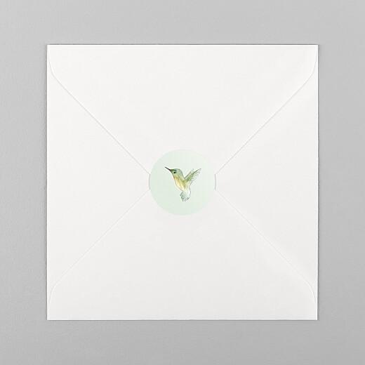 Stickers pour enveloppes naissance Petit colibri vert - Vue 1