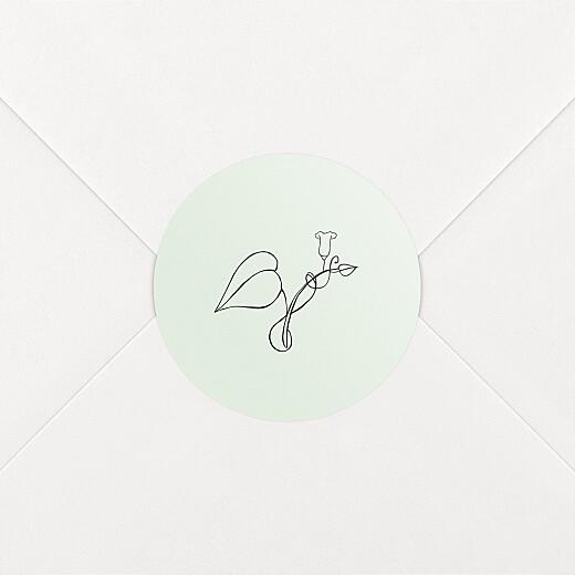 Stickers pour enveloppes naissance Petit colibri (feuillage) vert - Vue 2