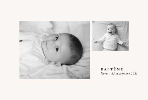 Faire-part de baptême Jeune pousse (dorure) beige