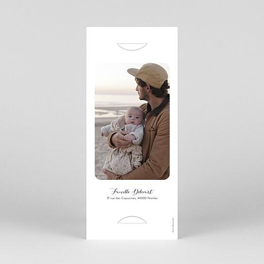 Faire-part de baptême Tendre innocence (marque-page) blanc - Vue 4