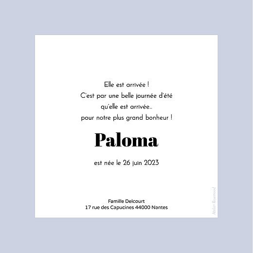 Faire-part de naissance Petit polaroïd (carré) bleu - Page 2