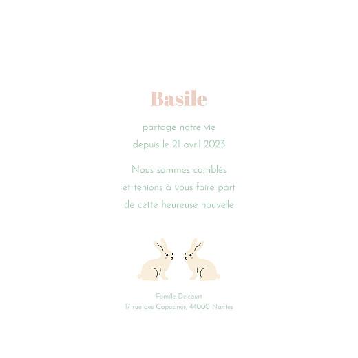 Faire-part de naissance Liberty lapin beige - Page 3
