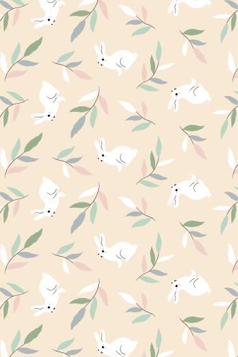 Carte de remerciement Liberty lapin beige