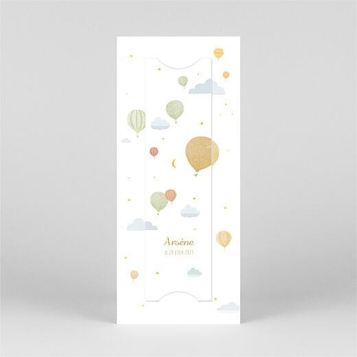 Faire-part de naissance Petites montgolfières (marque-page) jaune - Vue 3