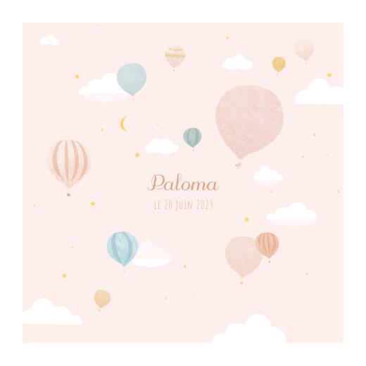 Faire-part de naissance Petites montgolfières rose