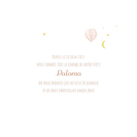 Faire-part de naissance Petites montgolfières rose - Page 3