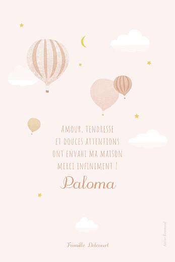 Carte de remerciement Petites montgolfières rose - Page 2