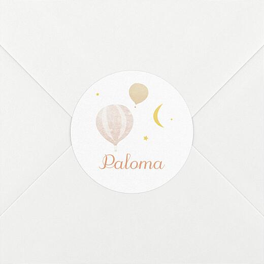 Stickers pour enveloppes naissance Petites montgolfières rose - Vue 2