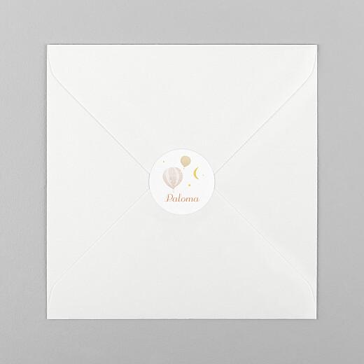 Stickers pour enveloppes naissance Petites montgolfières rose - Vue 1