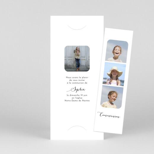 Faire-part de communion Tendre innocence (marque-page) blanc - Vue 1