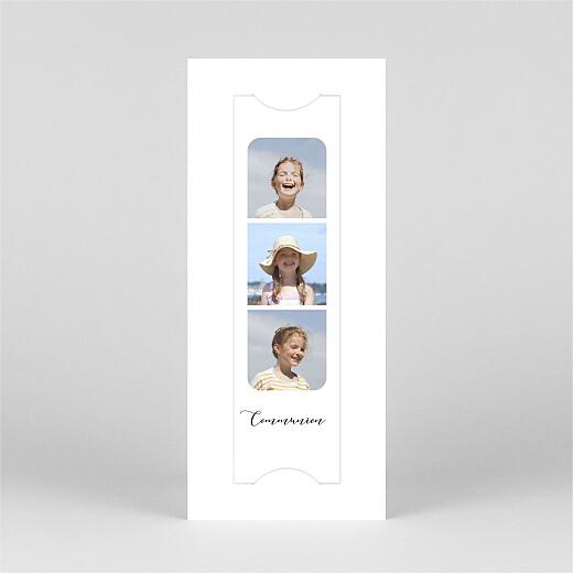 Faire-part de communion Tendre innocence (marque-page) blanc - Vue 2