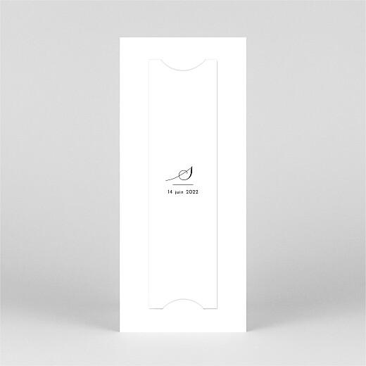 Faire-part de communion Tendre innocence (marque-page) blanc - Vue 3