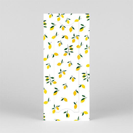 Faire-part de naissance Agrumes crayonnées (marque-page) citron - Vue 3