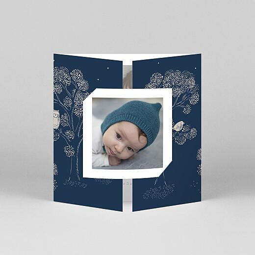 Faire-part de naissance Histoire du soir (fenêtre) bleu - Vue 1