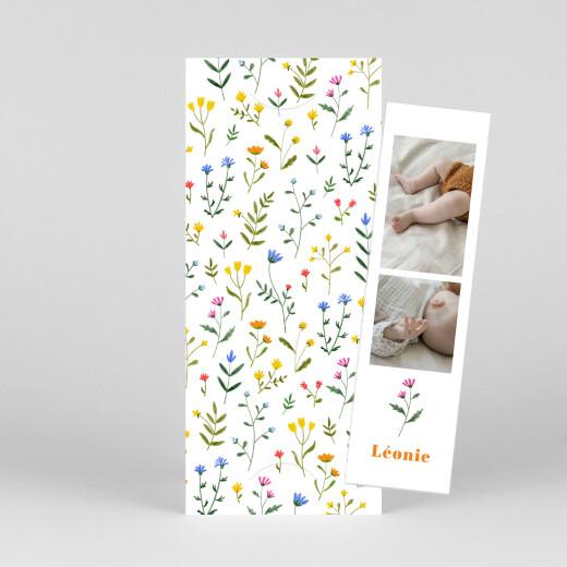 Faire-part de naissance Fleurs sauvages (marque-page) blanc - Vue 1
