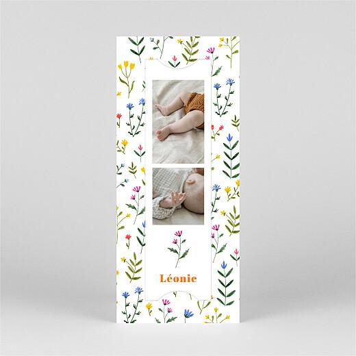 Faire-part de naissance Fleurs sauvages (marque-page) blanc - Vue 2