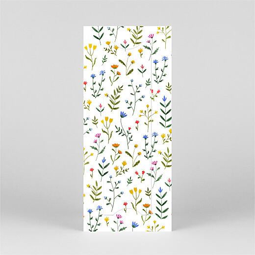 Faire-part de naissance Fleurs sauvages (marque-page) blanc - Vue 3
