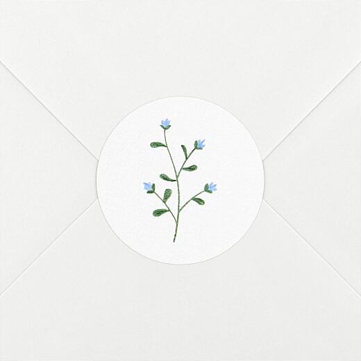 Stickers pour enveloppes naissance Fleurs sauvages blanc - Vue 2
