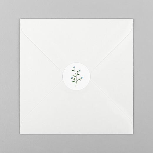 Stickers pour enveloppes naissance Fleurs sauvages blanc - Vue 1