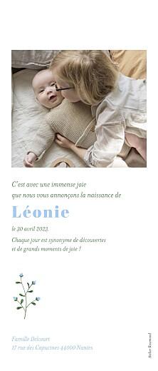 Faire-part de naissance Petite fleur sauvage blanc - Page 2