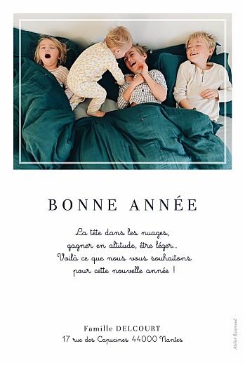 Carte de voeux Petite étiquette (portrait) blanc - Page 2