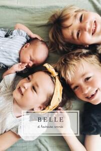 Carte de voeux Petite étiquette (portrait) blanc