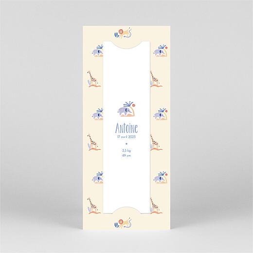 Faire-part de naissance Douce savane (marque-page) beige - Vue 3