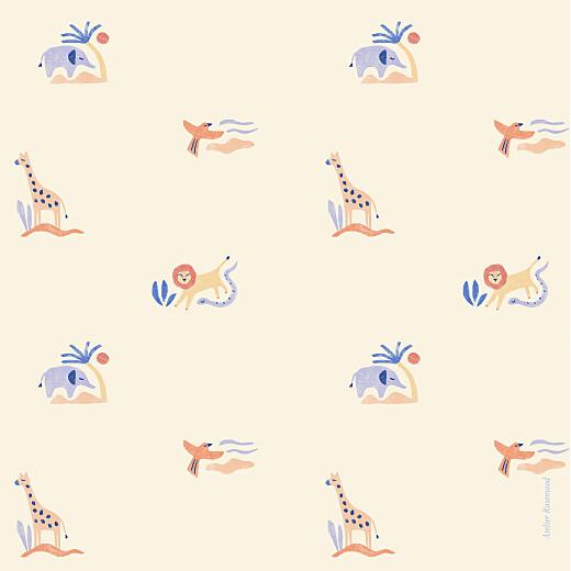 Faire-part de naissance Douce savane (4 pages) beige - Page 4
