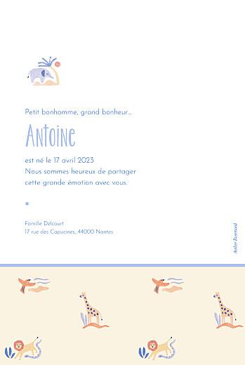 Faire-part de naissance Douce savane (portrait) beige - Page 2