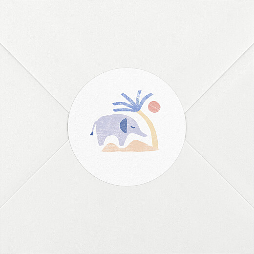 Stickers pour enveloppes naissance Douce savane beige - Vue 2