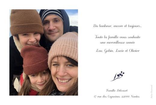 Carte de voeux Brins d'hiver (paysage) bleu - Page 2