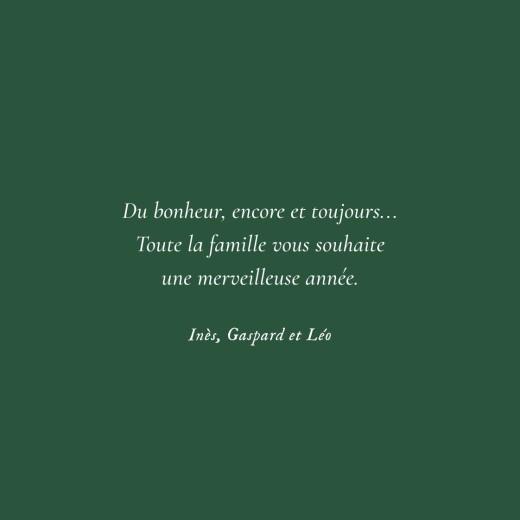 Carte de voeux Petite gravure vert - Page 5