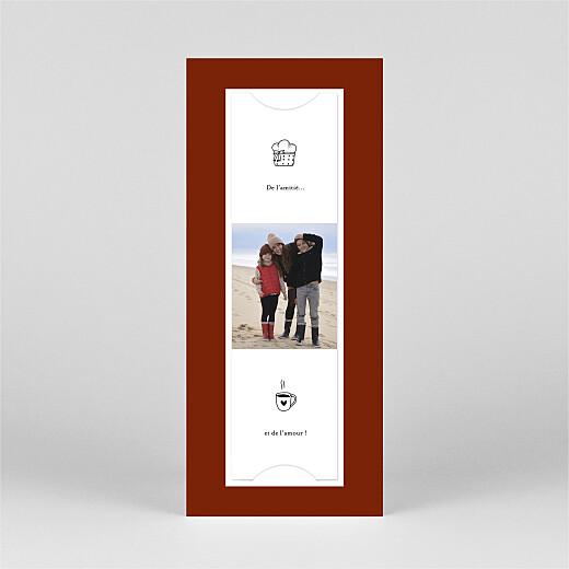 Carte de voeux Petite gravure (marque page) rouge - Vue 3
