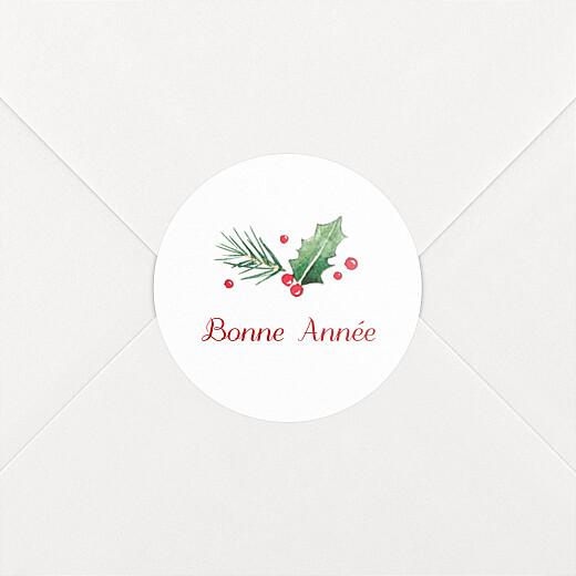 Stickers pour enveloppes vœux Houx d'hiver - Vue 2
