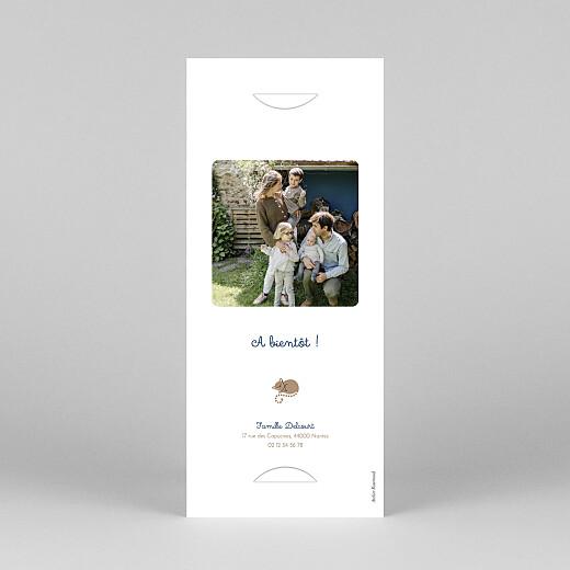 Faire-part de naissance La famille des animaux (marque-page) bleu - Vue 4