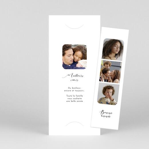 Carte de voeux Tendre innocence (marque-page) blanc - Vue 1