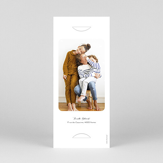 Carte de voeux Tendre innocence (marque-page) blanc - Vue 4