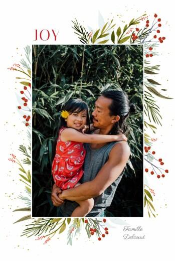 Carte de voeux Joyeuses fêtes (portrait)