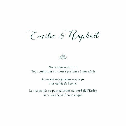 Faire-part de mariage Ronde des prés simple (4 pages) vert - Page 3