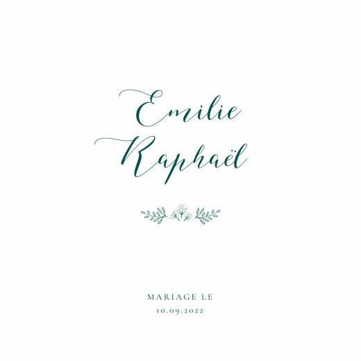 Faire-part de mariage Ronde des prés simple (4 pages) vert