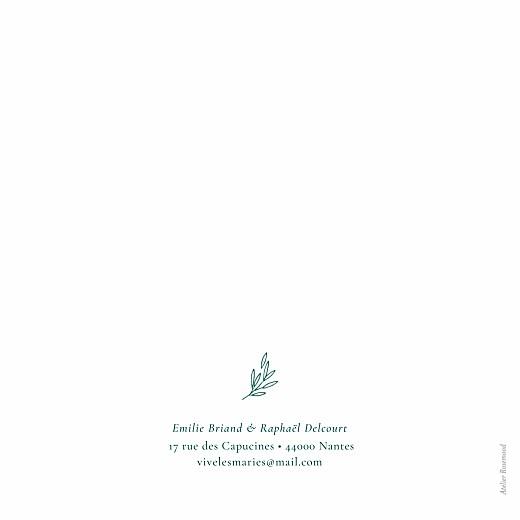 Faire-part de mariage Ronde des prés simple (4 pages) vert - Page 4