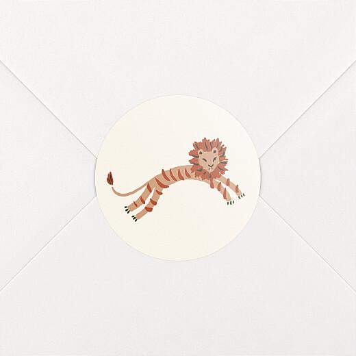 Stickers pour enveloppes naissance Petite jungle beige - Vue 2