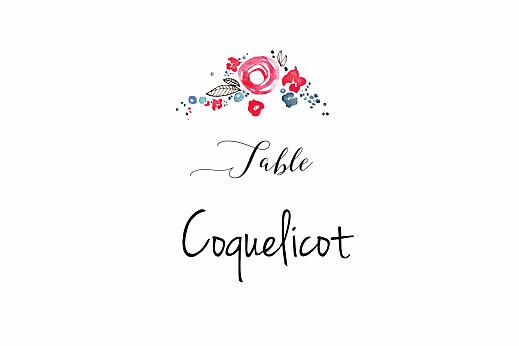 Marque-table mariage Romance blanc