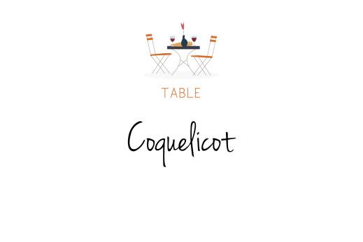 Marque-table mariage Jour de fête crème