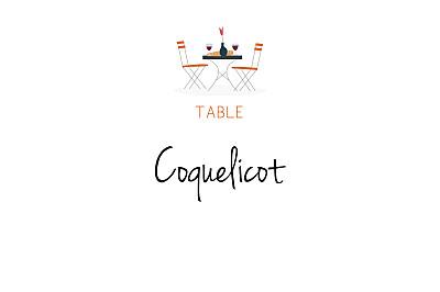Marque-table mariage Jour de fête crème finition