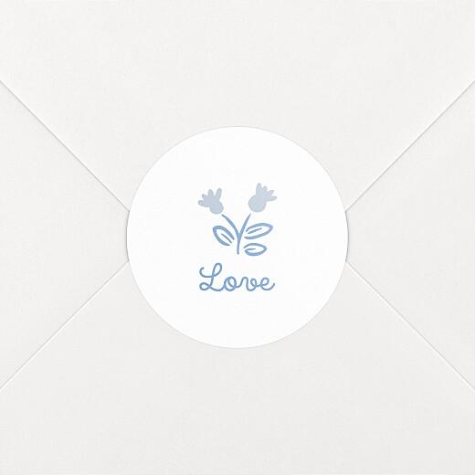 Stickers pour enveloppes naissance Mon petit liberty bleu - Vue 2