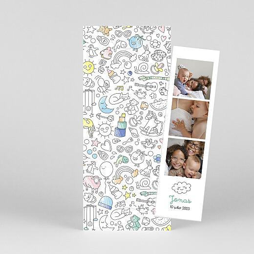 Faire-part de naissance À colorier ! by omy (marque-page) couleurs - Vue 1