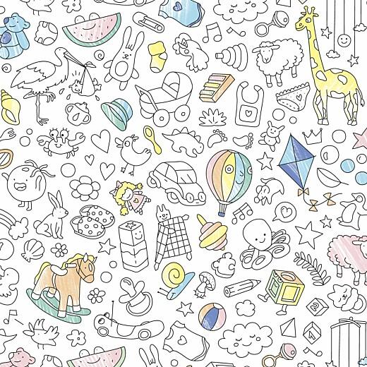 Faire-part de naissance À colorier ! by omy (4 pages) multicolore - Page 4