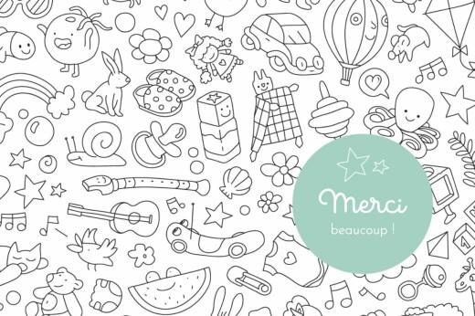 Carte de remerciement À colorier ! by omy (paysage) blanc